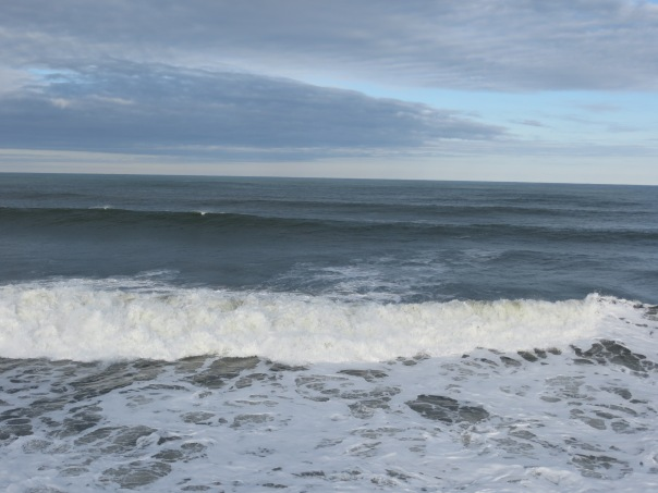 Beautiful swells, huge waves.