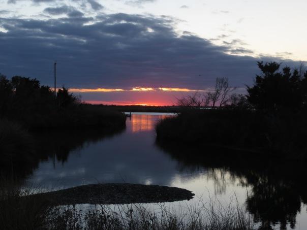 Sunset over soundside